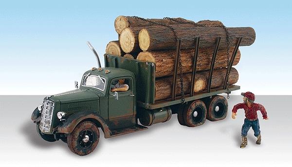ティムの伐採トラック :ウッドランド 塗装済完成品 HO(1/87) AS5553