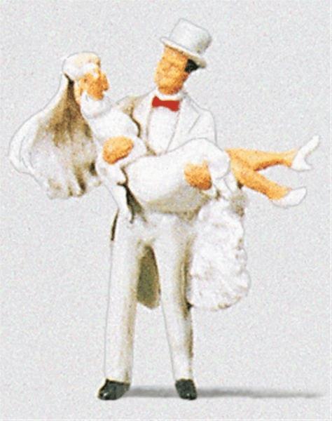 結婚式の新郎新婦 :プライザー 塗装済完成品 HO(1/87) 28029
