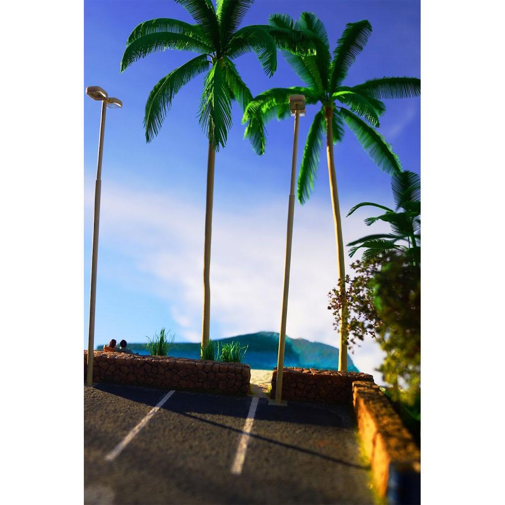 「海辺のパーキング」 フィギュア付き :グリーンアート 完成品 1/43 3003