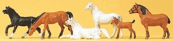 馬 6頭 :プライザー 塗装済完成品 HO(1/87) 10150
