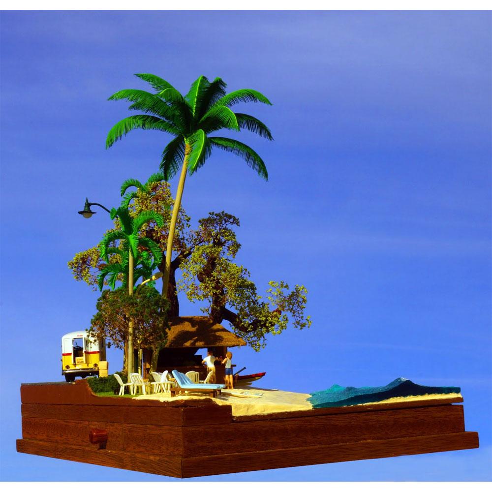 「2人のビーチバー」 ミニカー、フィギュア付き :グリーンアート 完成品 1/43 3004