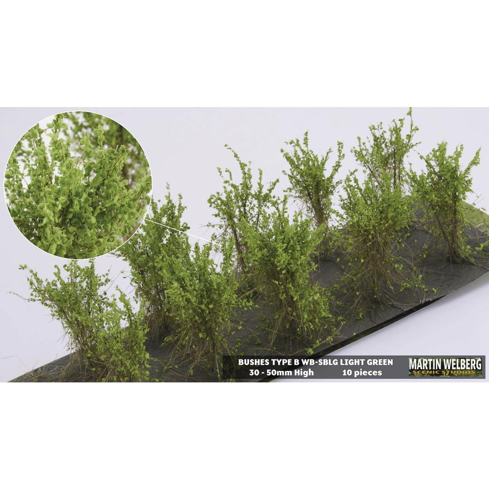 茂みB 株タイプ 全高40mm ライトグリーン 10株 :マーティンウェルバーグ ノンスケール WB-SBLG