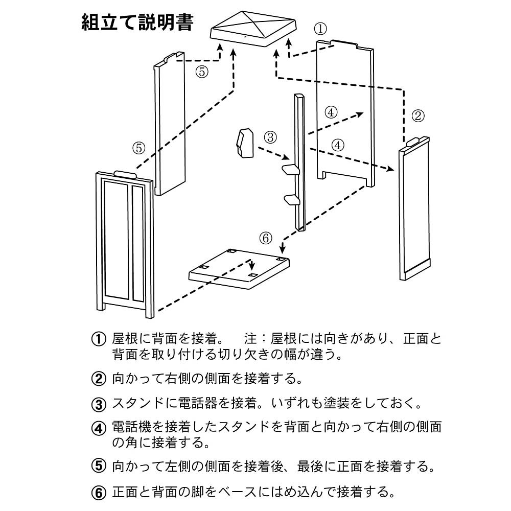 【模型】電話ボックス ブルー ※こばる同等品 :さかつう 未塗装キット N(1/150) 3740