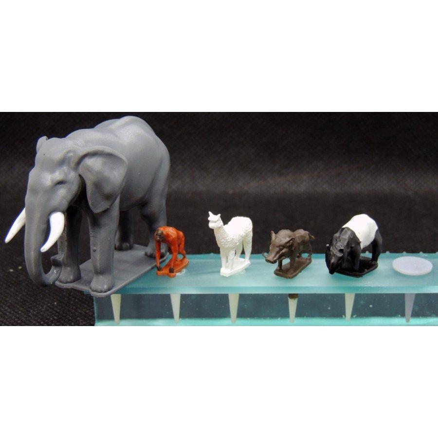 園芸ジオラマ作成用ミニチュア 動物セットA :アイコム 塗装済完成品 ノンスケール GM1P