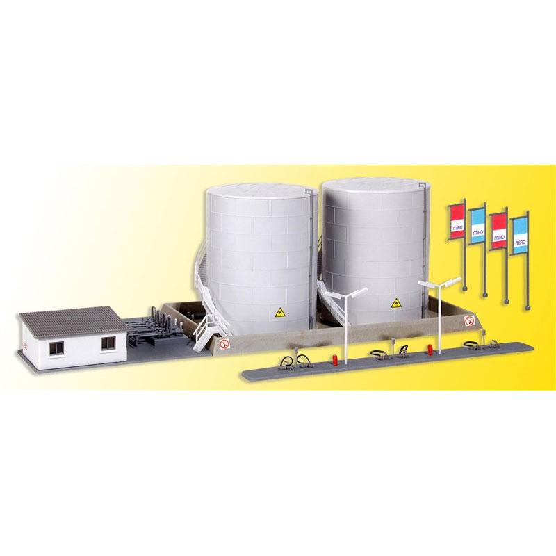 給油所とオフィス :キブリ 未塗装キット N(1/150) 37467