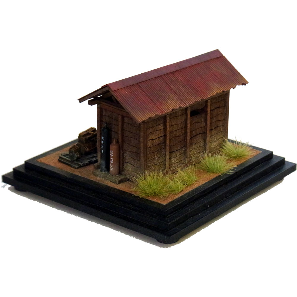 線路わきの物置小屋 :伊藤敏男 塗装済完成品 1/87