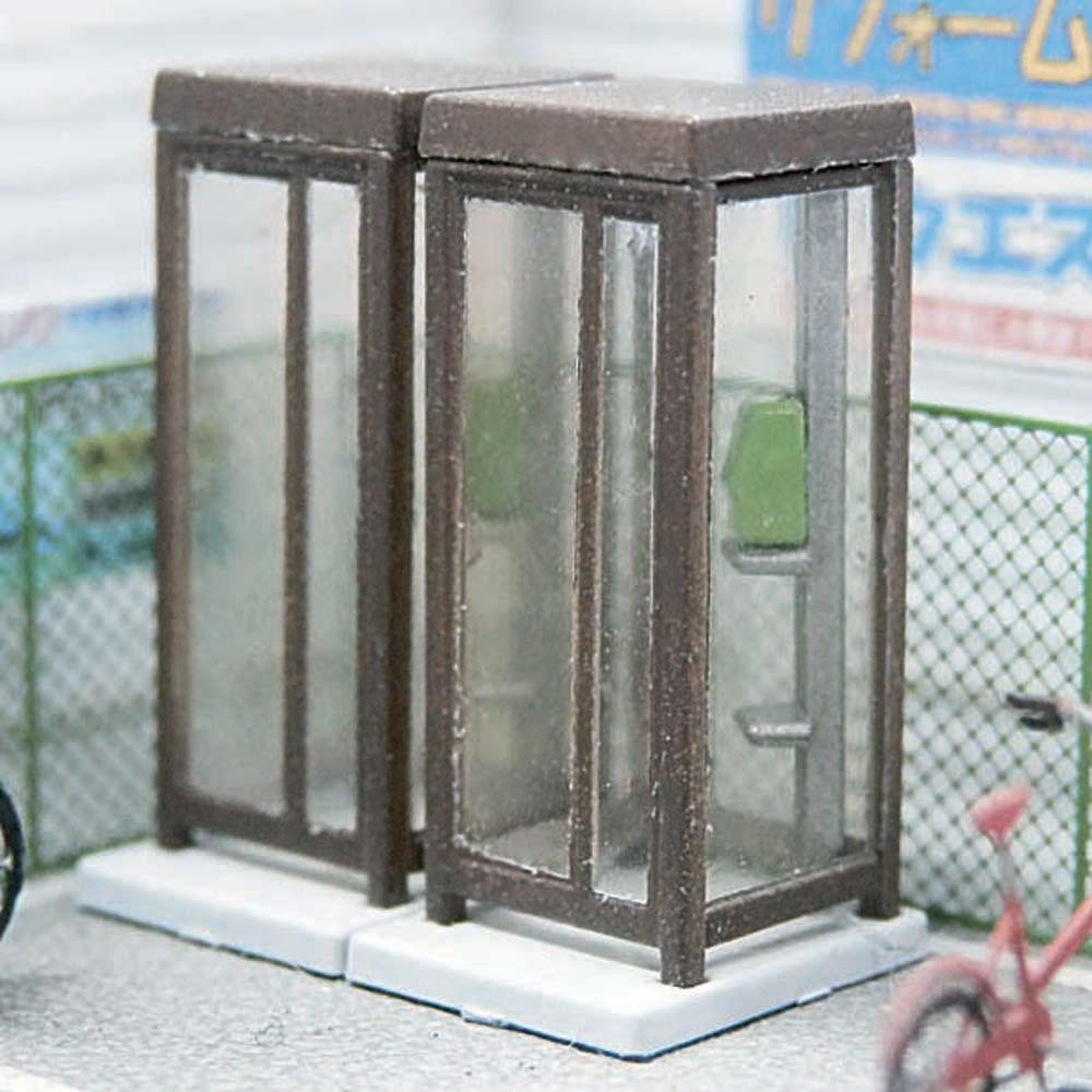 【模型】電話ボックス アンバー ※こばる同等品 :さかつう 未塗装キット N(1/150) 3741