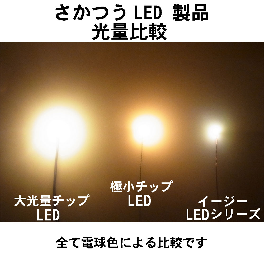 大光量チップLED 電球色 ピン付き 2個入り :さかつう 電子パーツ ノンスケール 2310