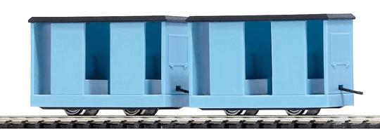 6.5ミリナロー 作業員運搬車 水色2輌セット HO6.5mmナロー :ブッシュ 人車 5027
