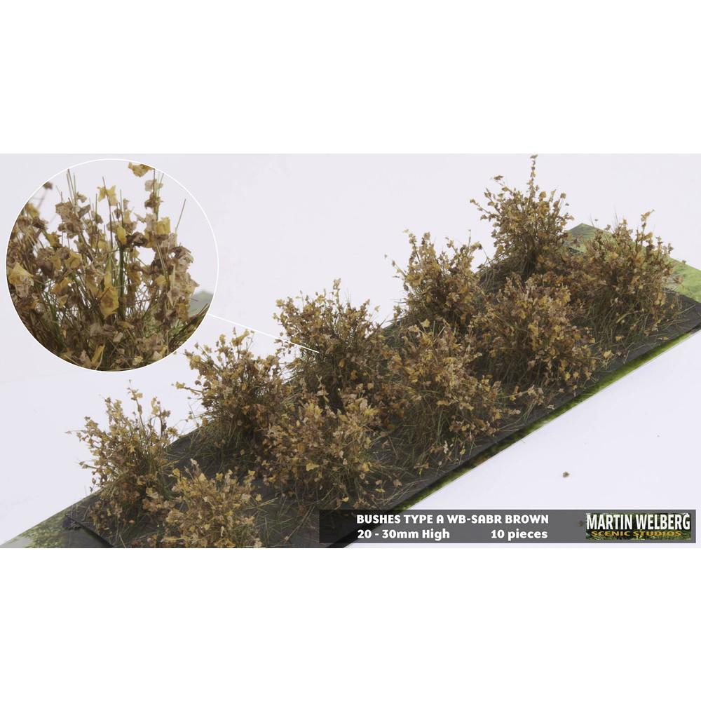 茂みA 株タイプ 全高20mm ブラウン 10株 :マルティン・ウエルベルク ノンスケール WB-SABR