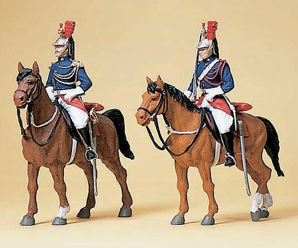 騎乗したギャルド・レピュブリケーヌ(フランス国家憲兵隊) 騎馬警官 :プライザー 塗装済完成品 HO(1/87) 10435