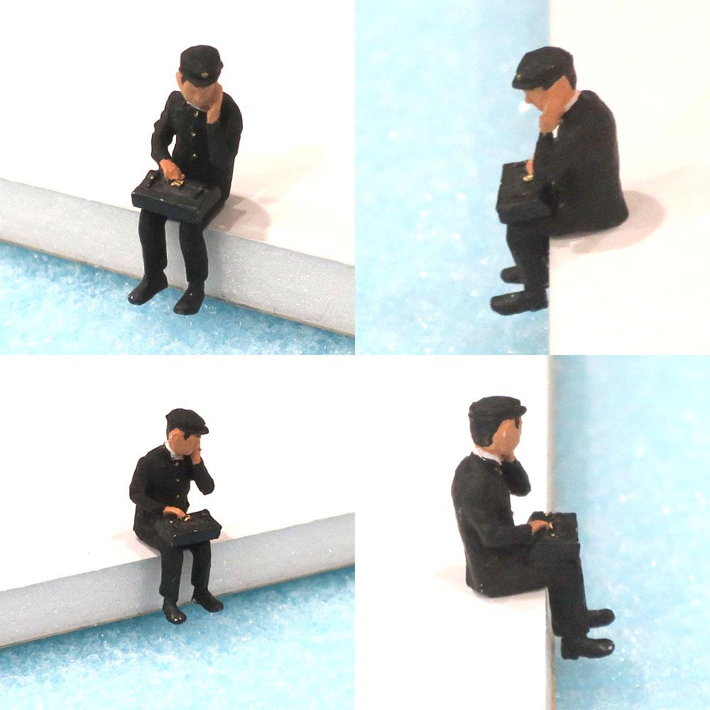 高校生 男子(昭和版・頬杖) :Kt工房 塗装済完成品 HO(1/80) D01S-80