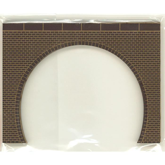 トンネルポータル レンガ 複線 茶色 目地白 2枚入り :ポポプロ 塗装済完成品 N(1/150) MS-002SA