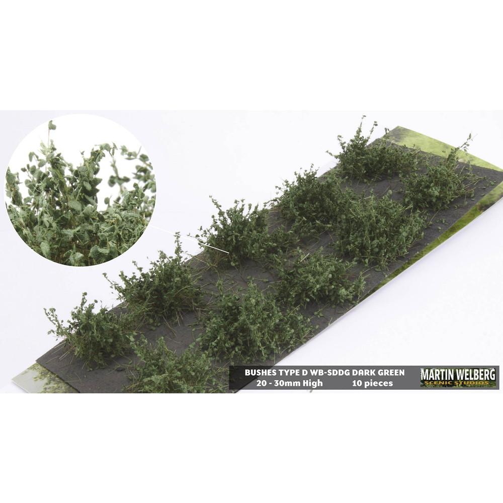 茂みD 株タイプ 全高20mm ダークグリーン 10株 :マルティン・ウエルベルク ノンスケール WB-SDDG