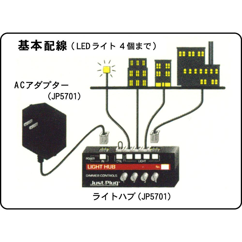 ウッドランド照明システム専用 照明LED&ライトハブセット JP5700 :ウッドランド 電子パーツ Just Plug対応