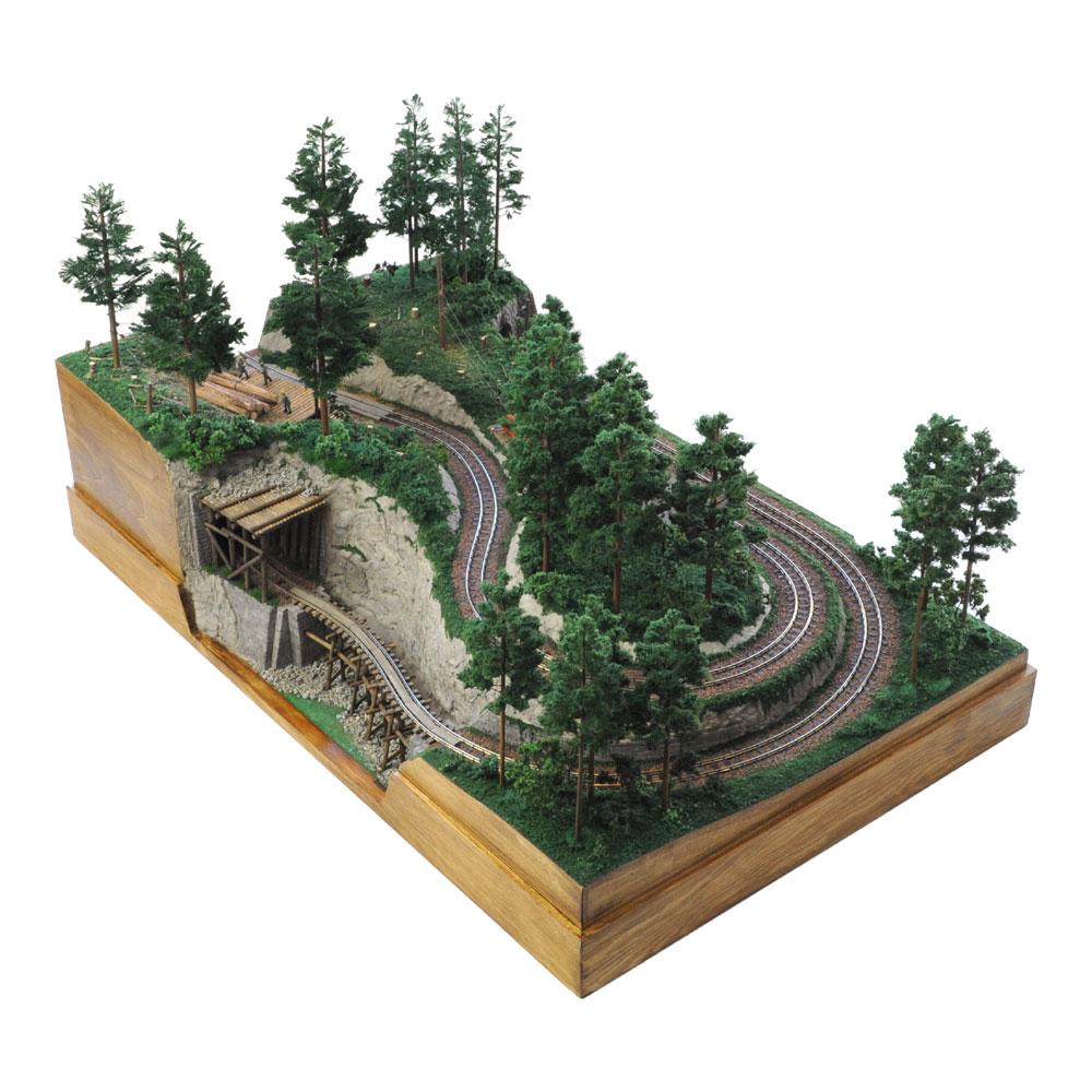 森林鉄道 小型レイアウト :工房ナナロクニ 塗装済完成品 1/87 3010
