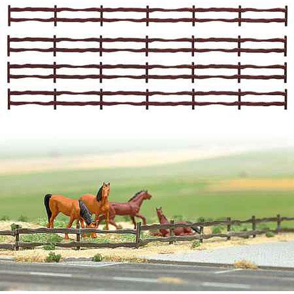 牧場フェンス :ブッシュ 未塗装キット HO(1/87) 6008