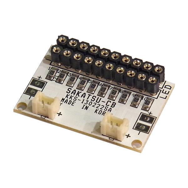 常時点灯10 増設基板(コネクタ付LED用 10灯取付け可能) :さかつう 電子部品 2575
