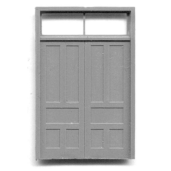 木製ドア 両開きドア :グラントライン 未塗装キット(部品) HO(1/87) 5073