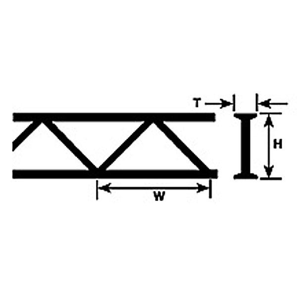 トラス材 6.4 x 3.2 x 150 mm :プラストラクト プラ材 ノンスケール 90403