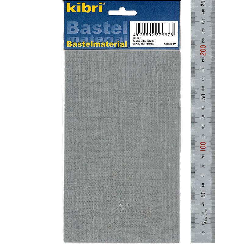 古ぼけた板葺き屋根材 120 × 200 mm 1枚 :キブリ プラ素材 N(1/150) 37967