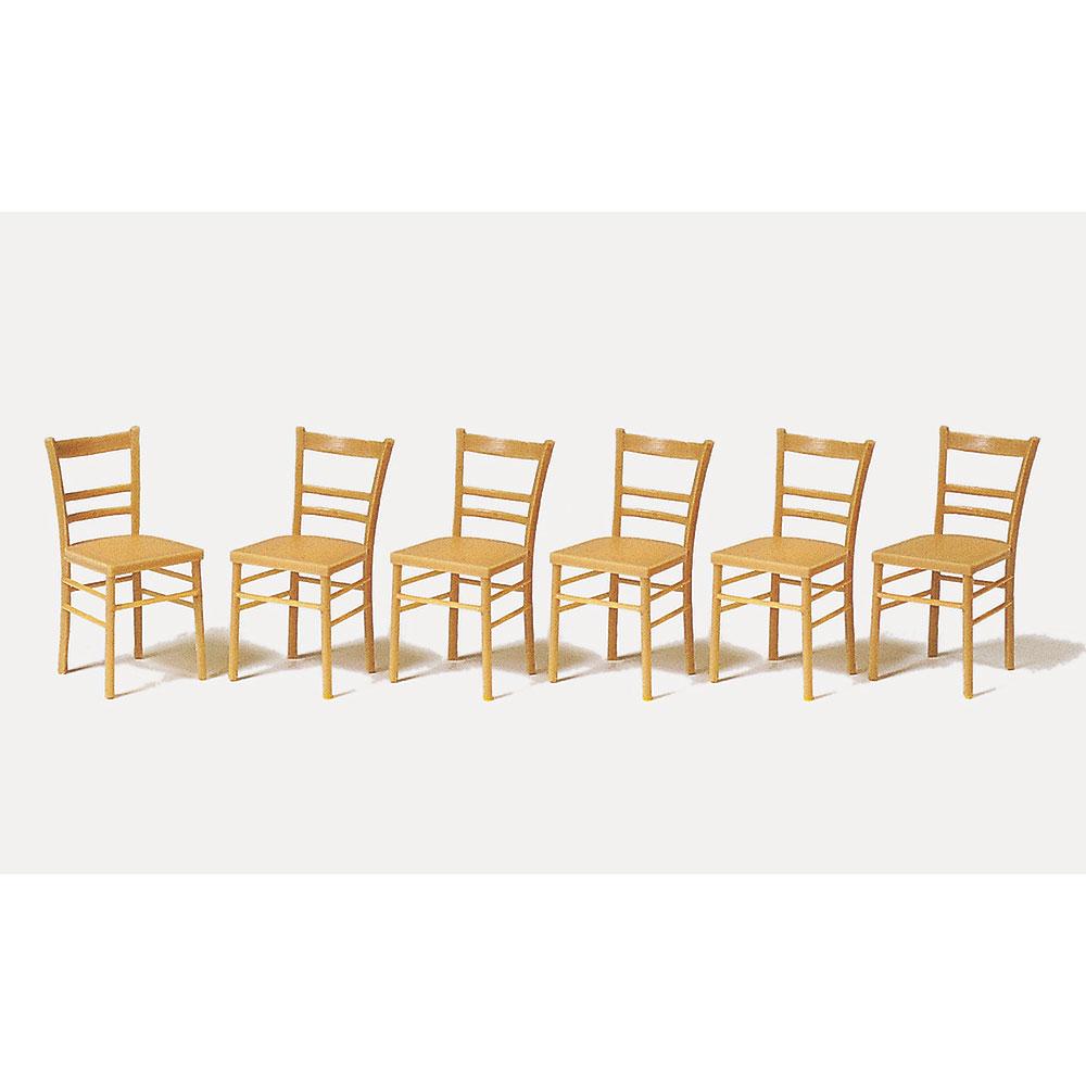 ダイニングチェア(椅子) 6脚セット :プライザー 未塗装キット 1/22.5 45219