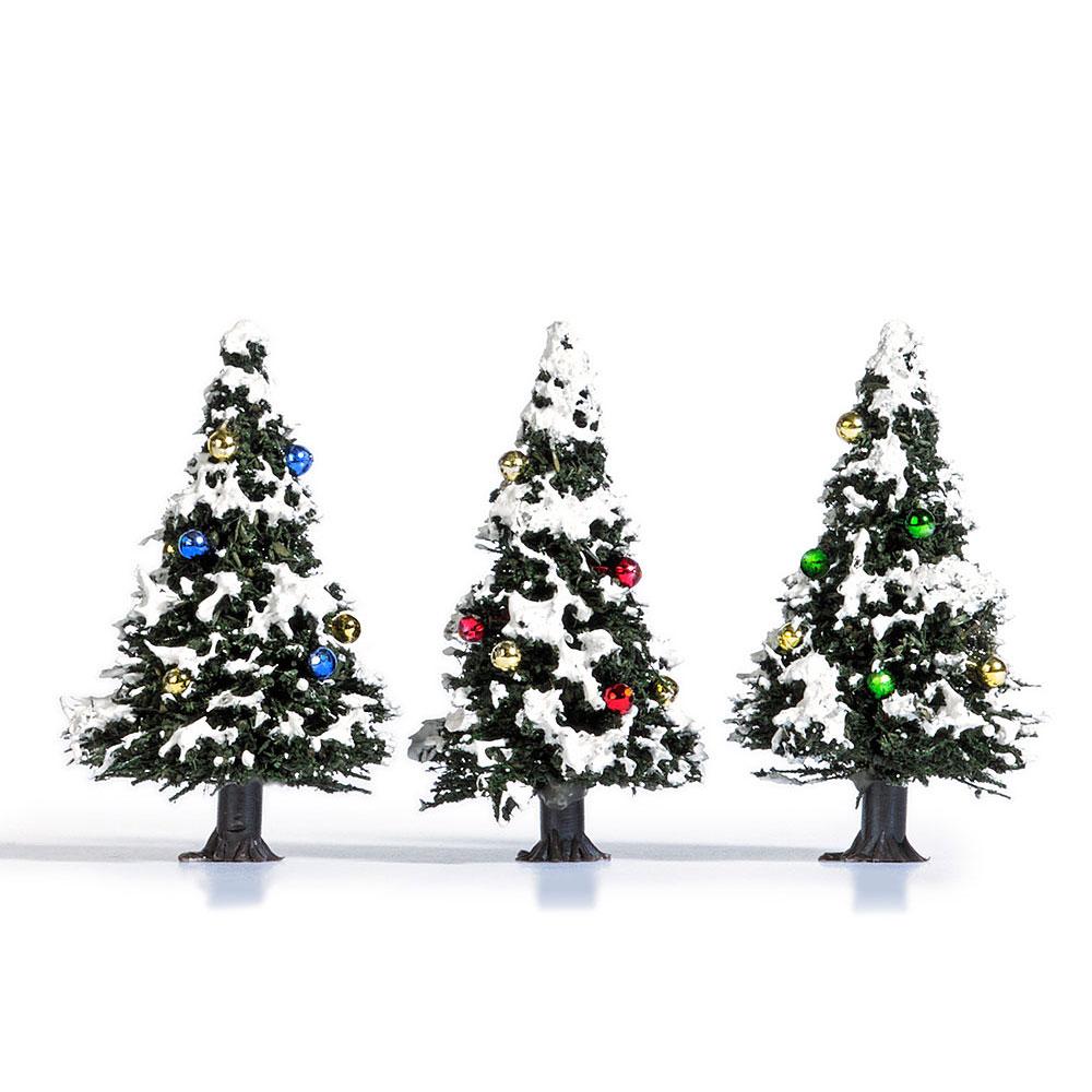 雪を被ったクリスマスツリー 4cm 3本 :ブッシュ 完成品 ノンスケール 6464