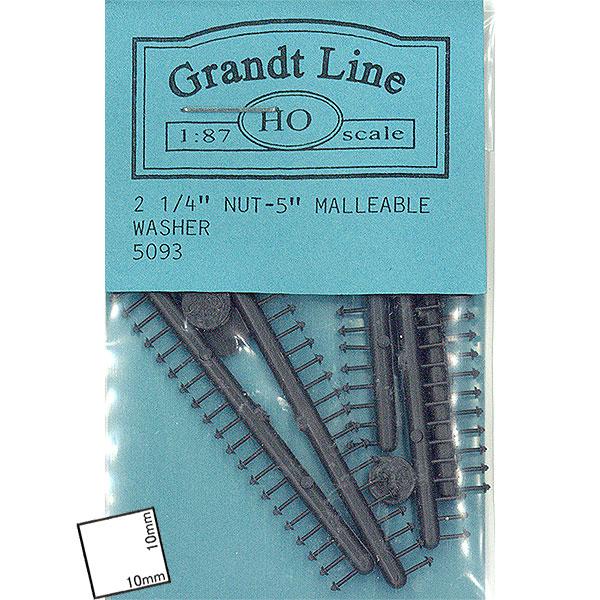 四角ナット・ボルト・マリアブルワッシャー 平角0.7mm  :グラントライン 未塗装キット HO(1/87) 5093