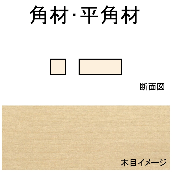 角材・平角材 1.8 x 2.4 x 279 mm 10本入り :ノースイースタン 木材 ノンスケール 3041