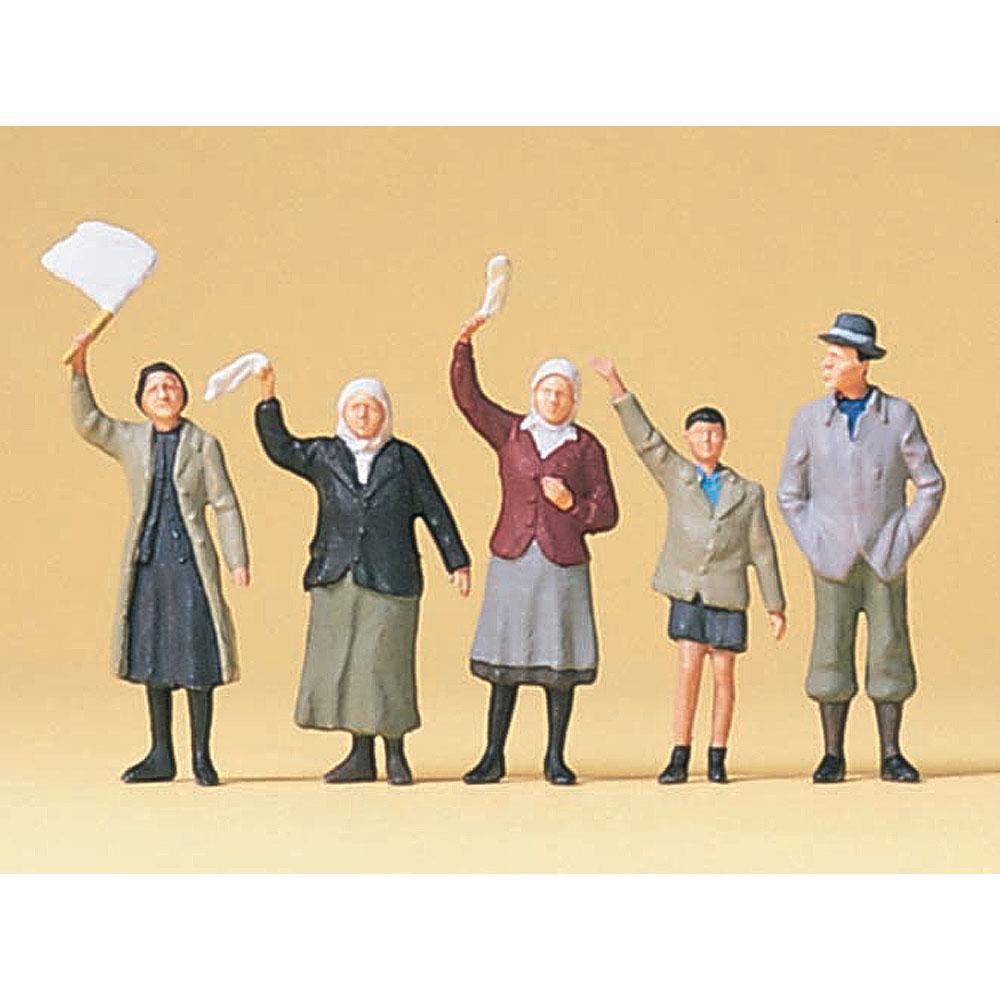 道端で手を振っている一般人 :プライザー 塗装済完成品 1/72 72413