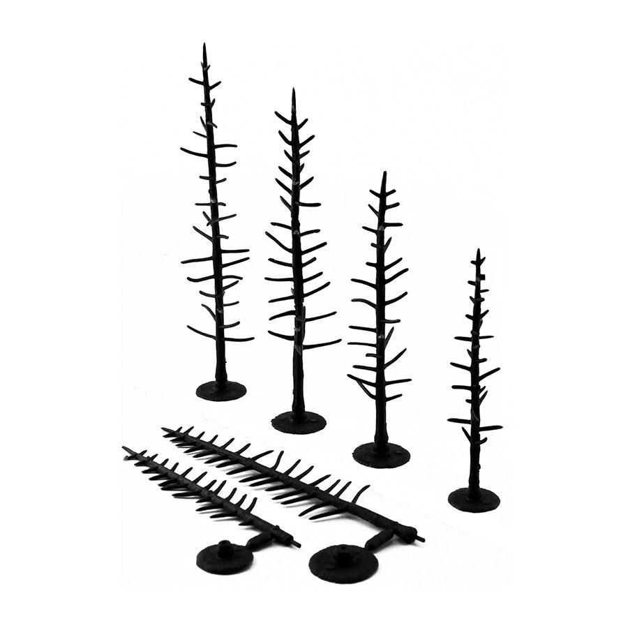 樹木組み立てキット 10〜15.2cm 44本入り :ウッドランド 素材 ノンスケール TR1125
