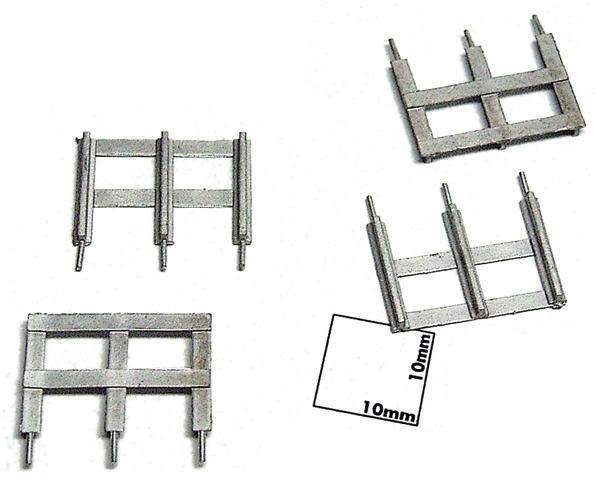 踏切防護柵(レール製) 4ヶ入り :エコーモデル 未塗装キット HO(1/80) 168