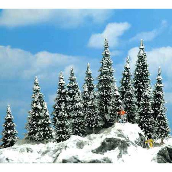 雪を被ったモミの木 30〜60mm  20本入り :ブッシュ 完成品 6566