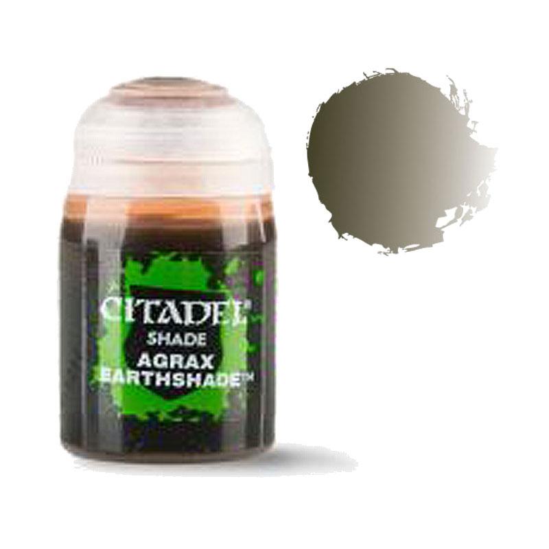 シタデル・シェイド Agrax Earthshade(アグラックス・アースシェイド) ※内容量24ml :ゲームズワークショップ つや消し塗料 24-15