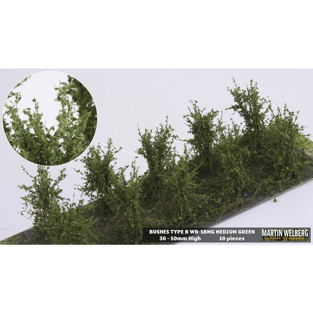 茂みB 株タイプ 全高40mm ミディアムグリーン 10株 :マルティン・ウエルベルク ノンスケール WB-SBMG