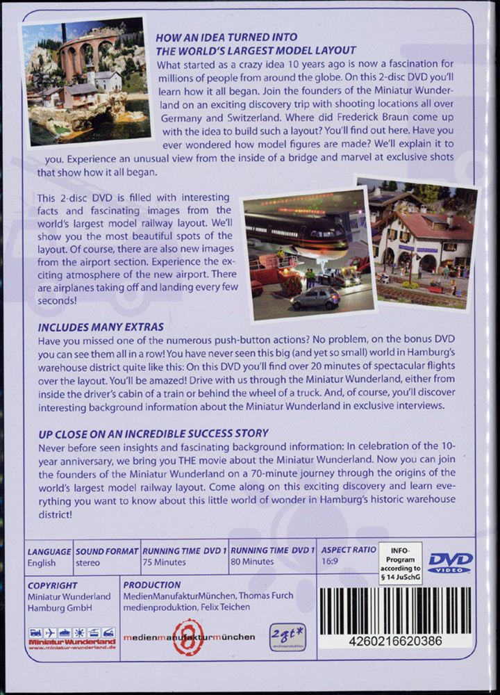 DVD2枚組 「ミニチュアワンダーランド10周年記念」 10-year anniversary of the Miniatur Wunderland :ミニチュアワンダーランド (DVD) 英語