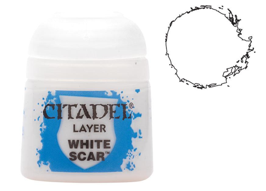 シタデル・レイヤー White Scar(ホワイト・スカー) :ゲームズワークショップ つや消し塗料 22-57