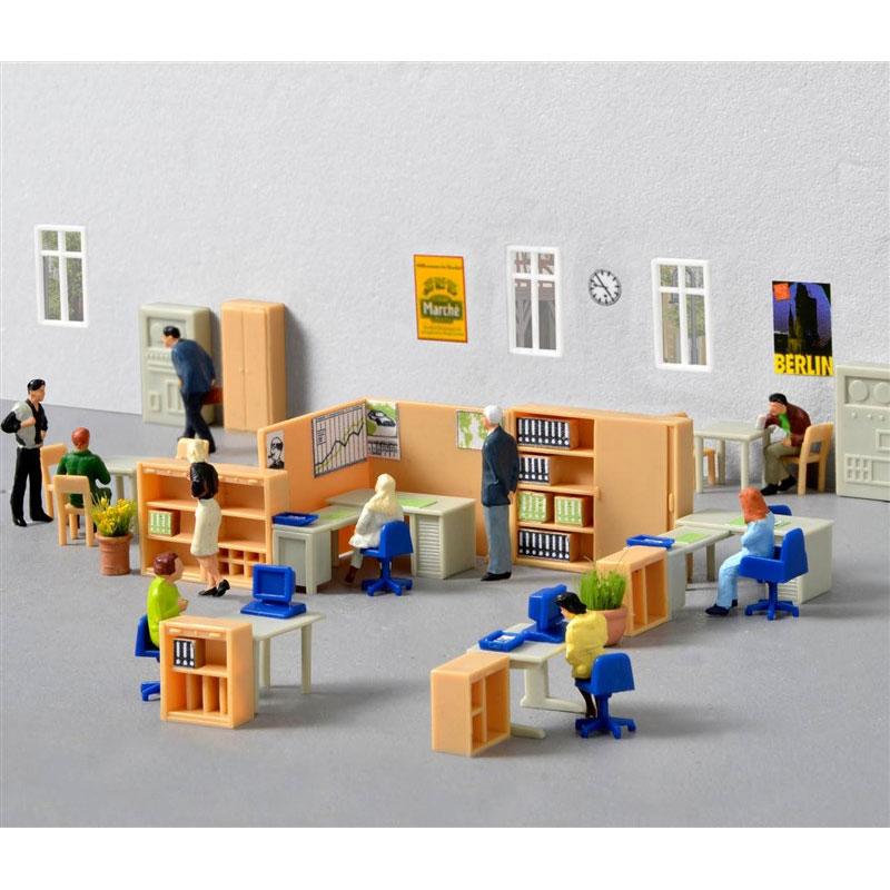 オフィス家具装飾セット :キブリ 未塗装キット HO(1/87) 38654