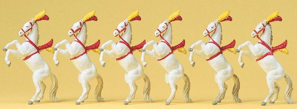 サーカスの馬6頭 :プライザー 塗装済完成品 HO(1/87) 20382