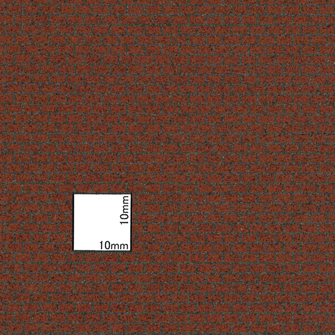 石畳(赤レンガ) :ウォルサーズ 素材 HO(1/87) 1257