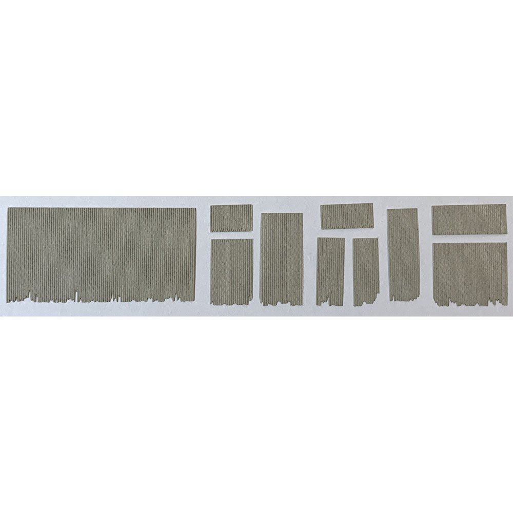 トタン波板シート「草」 :梅桜堂 N(1/150) 未塗装キット AC-014-15U