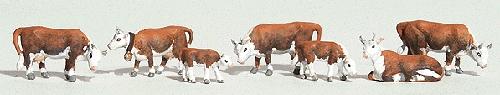 ヘレフォード牛 :ウッドランド 塗装済完成品 HO(1/87) 1843