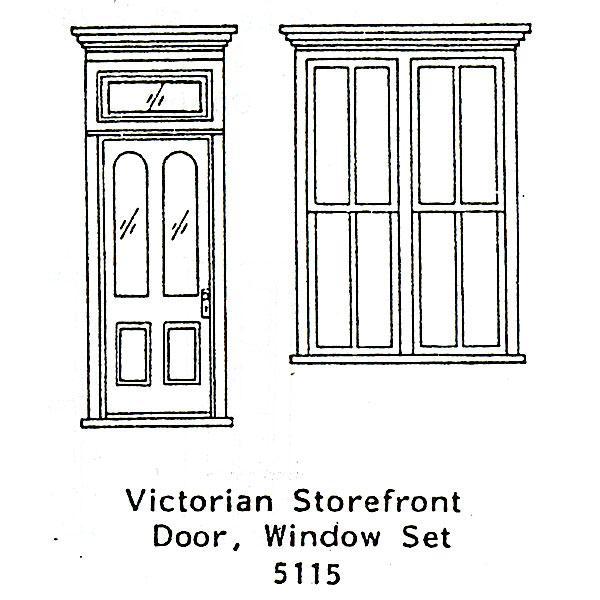木製ドア ビクトリア調店先組 :グラントライン 未塗装キット(部品) HO(1/87) 5115