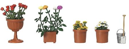 植木鉢の花 :ブッシュ 完成品 HO(1/87) 1230
