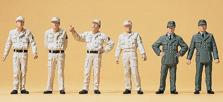 ドイツ連邦技術支援隊(THW)1950年ごろ :プライザー 塗装済完成品 HO(1/87) 10457