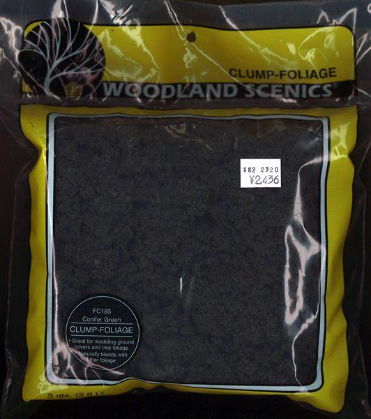 スポンジ系素材 【クランプフォーリッジ】 コニファー・グリーン(黒緑) [ラージバッグ] :ウッドランド 素材 ノンスケール FC185