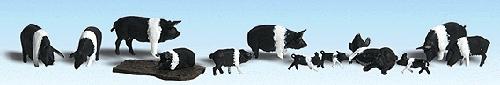 ハンプシャー豚 :ウッドランド 塗装済完成品 HO(1/87) 1864