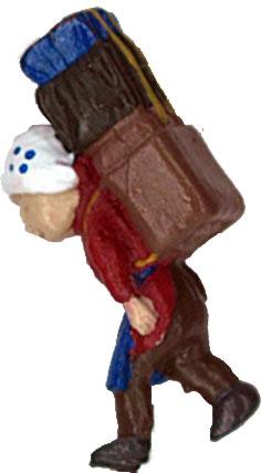 さかつう人形シリーズまなべコレクション 担ぎやのおばさんB :さかつう 塗装済完成品 HO(1/87) 7507