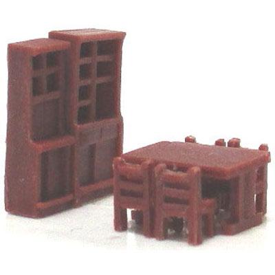 食卓(茶色) :YSK 未塗装キット N(1/150) 品番391