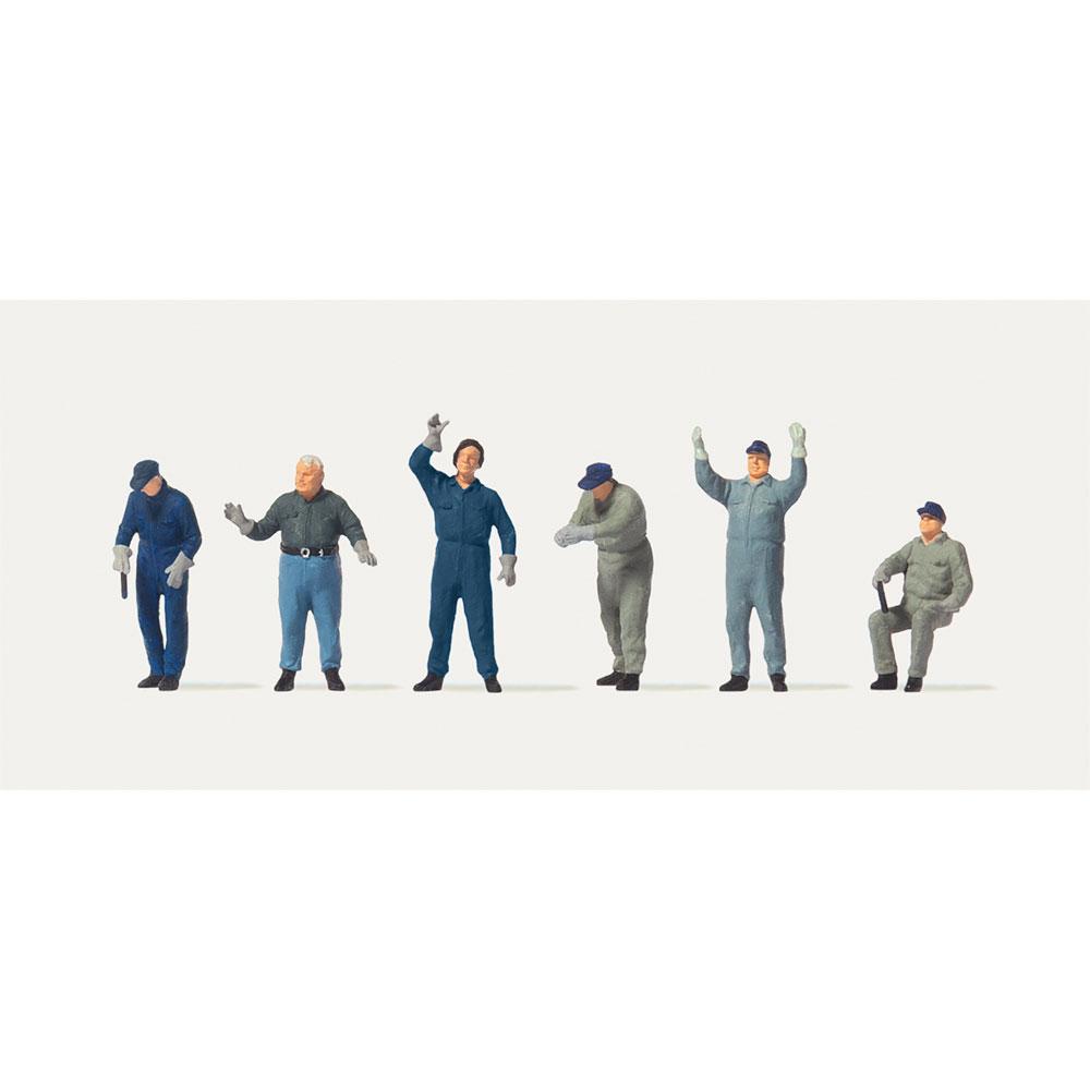 商品を積み込む労働者たち :メルテン 塗装済完成品 HO(1/87) 2575